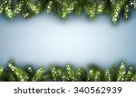 Winter Background With Fir...