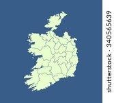 map of ireland   Shutterstock .eps vector #340565639