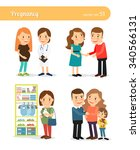 pregnant and expecting the... | Shutterstock .eps vector #340566131