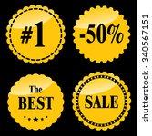 sale badges  stickers  logo ...   Shutterstock .eps vector #340567151