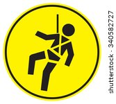 safety harness signs | Shutterstock .eps vector #340582727
