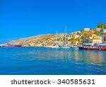symi  greece   august 27  2014  ... | Shutterstock . vector #340585631