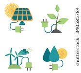 alternative energy sources | Shutterstock .eps vector #340585784