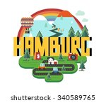 hamburg city in germany is a... | Shutterstock .eps vector #340589765