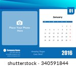 desk calendar 2016 | Shutterstock . vector #340591844