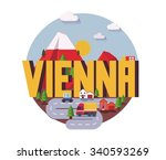 vienna city is a beautiful... | Shutterstock .eps vector #340593269