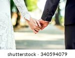 closeup view of married couple... | Shutterstock . vector #340594079