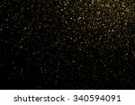 gold glitter texture on a black ... | Shutterstock .eps vector #340594091