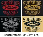 superior vector print and... | Shutterstock .eps vector #340594175