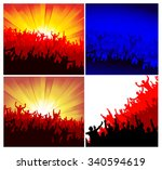 advertising crowd of people for ... | Shutterstock .eps vector #340594619