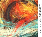 bright artistic splashes.... | Shutterstock . vector #340594925