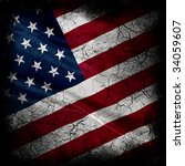 grunge usa flag   Shutterstock . vector #34059607