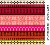 ethnic geometric print.... | Shutterstock .eps vector #340601255