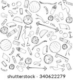 sketch hand drawn background... | Shutterstock .eps vector #340622279
