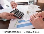 real estate agent showing the...   Shutterstock . vector #340625111
