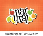 natural word and fruits... | Shutterstock . vector #34062529