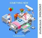 health care maternity ward... | Shutterstock . vector #340626065