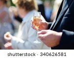 wedding celebration with... | Shutterstock . vector #340626581
