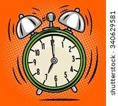 alarm clock ring comic book pop ... | Shutterstock .eps vector #340629581