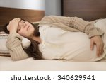 beautiful young pregnant woman... | Shutterstock . vector #340629941