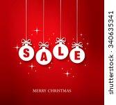 sale. christmas balls | Shutterstock .eps vector #340635341