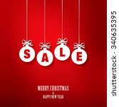 sale. christmas balls | Shutterstock .eps vector #340635395