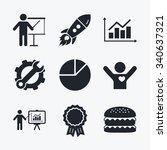 award achievement  spanner and... | Shutterstock .eps vector #340637321