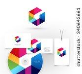 modern icon design logo element.... | Shutterstock .eps vector #340642661