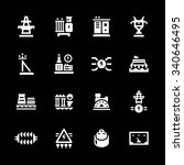 set icons of power industry... | Shutterstock .eps vector #340646495