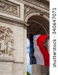 detail of triumphal arch  arc... | Shutterstock . vector #340647071