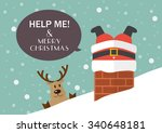 help me and merry christmas.... | Shutterstock .eps vector #340648181