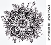 Hand Drawn Ornate Flower In Th...