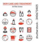 skin cosmetics and treatment... | Shutterstock .eps vector #340673405