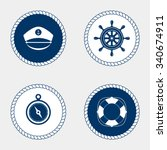 vector of nautical and marine... | Shutterstock .eps vector #340674911