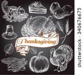 """thanksgiving day set on the... | Shutterstock .eps vector #340676675"