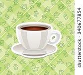 vector realistic sticker icon... | Shutterstock .eps vector #340677854