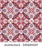 seamless paisley background.... | Shutterstock .eps vector #340684469