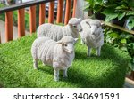 Baby Sheep Sculpture Decoration