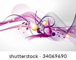 abstract vector illustration | Shutterstock .eps vector #34069690
