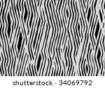 zebra fur texture | Shutterstock . vector #34069792