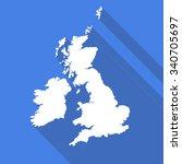 united kingdom uk great britain ... | Shutterstock .eps vector #340705697