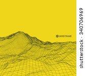 abstract vector landscape... | Shutterstock .eps vector #340706969
