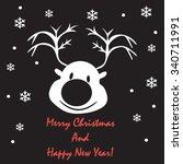 reindeer. merry christmas | Shutterstock .eps vector #340711991