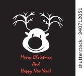reindeer. merry christmas | Shutterstock .eps vector #340712051