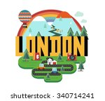 london city in england is a... | Shutterstock .eps vector #340714241