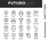 modern thin line icons set of... | Shutterstock .eps vector #340717385
