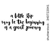 a little step may be the... | Shutterstock .eps vector #340722041