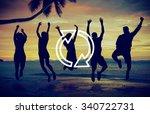 refresh renew icon cycle arrow... | Shutterstock . vector #340722731