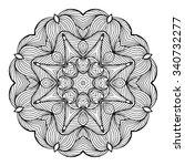 circular pattern in form of... | Shutterstock .eps vector #340732277