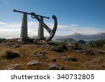 Small photo of nineteen fathom foul, a steel anchor overlooking port chalmers in new zealand